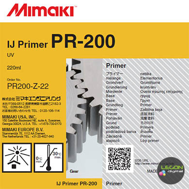 pr200 z 22 etiqueta - Cartucho Mimaki PR-200