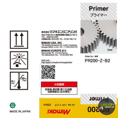 pr200 z b2 etiqueta - Botella Mimaki PR-200