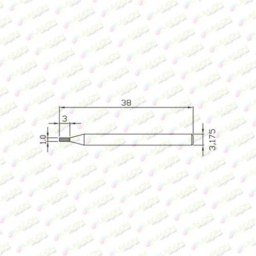 dcl 1 3 38 500x500 - Fresa alta precisión down cut plásticos y madera 1 x 3 x 38mm