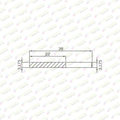 dcl 3.175 22 38 500x500 - Fresa alta precisión down cut plásticos y madera 3,175 x 22 x 38mm