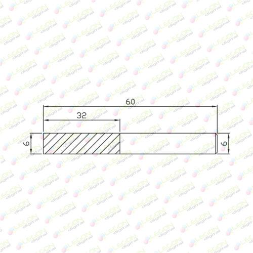 dcl 6 32 60 500x500 - Fresa alta precisión down cut plásticos y madera 6 x 32 x 60mm