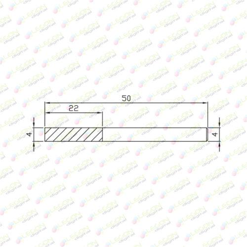 dcsl 4 22 50 500x500 - Fresa compresión doble filo plásticos y madera 4 x 22 x 50mm