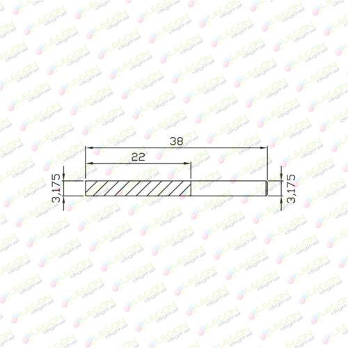 dl 3.175 22 38 500x500 - Fresa alta precisión plásticos y madera 3,175 x 22 x 38mm