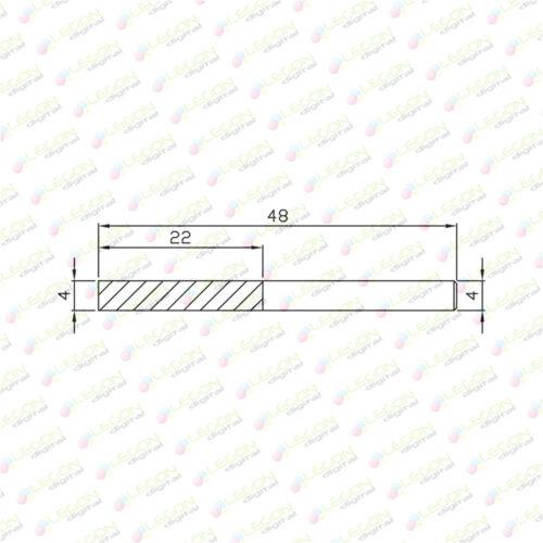 dl 4 22 48 500x500 - Fresa alta precisión plásticos y madera 4 x 22 x 48mm