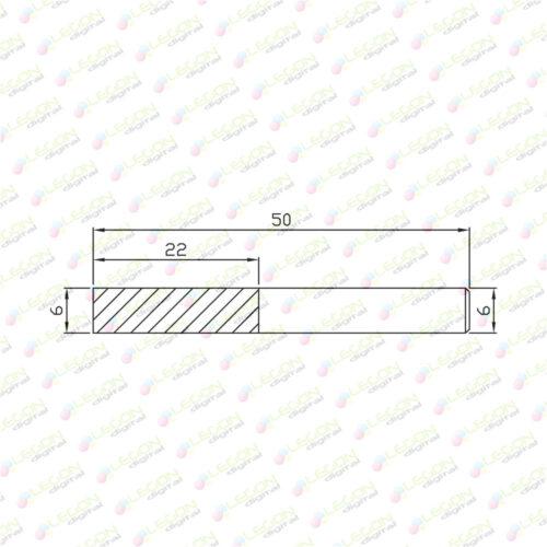 dl 6 22 50 500x500 - Fresa alta precisión plásticos y madera 6 x 22 x 50mm