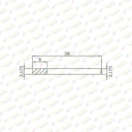 fxly 3.175 8 38 500x500 - Fresa especial para aluminio 3,175 x 8 x 38mm
