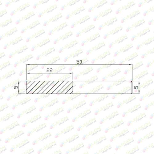 fxly 5 22 50 500x500 - Fresa especial para aluminio 5 x 22 x 50mm