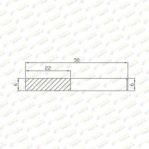 fxly 6 22 50 500x500 - Fresa especial para aluminio 6 x 22 x 50mm